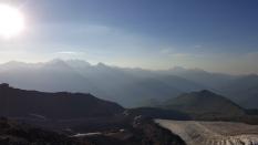Base camp views. Kazbek summit expedition. Georgia, August 2016.