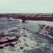 Gullfoss waterfall, Iceland. February 2014.