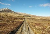 Crossing the Rannoch Moor. Western Highlands of Scotland, March 2016.