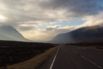 Crossing the Rannoch Moor. Western Highlands of Scotland, March 2016.