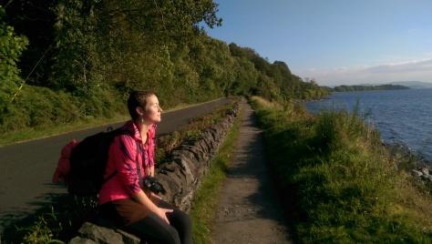 Loch Lomond in sunshine.