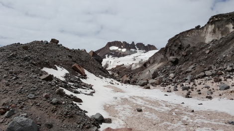 Moraine glacier of Mount Kazbek.