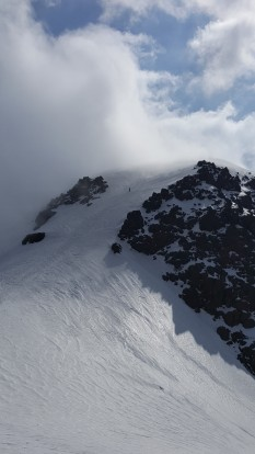 When the clouds lift at 5000 m.