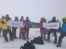 The summit of Mount Kazbek. (Photo stolen from Allan.)