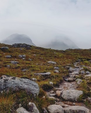 Torridon in mist. Scotland, September 2019.