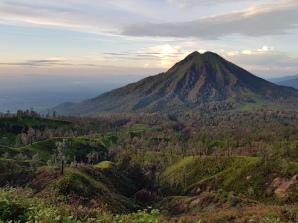 The Ijen volcano complex, Java, Indonesia. February 2020.