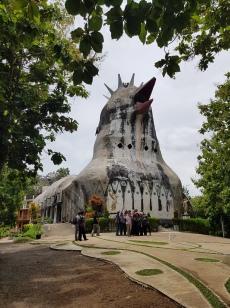 Chicken Church (Gereja Ayam), Java, Indonesia. February 2020.