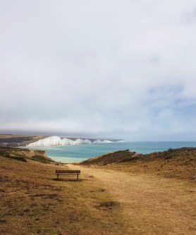 Seven Sisters cliff hike. England, July 2020.